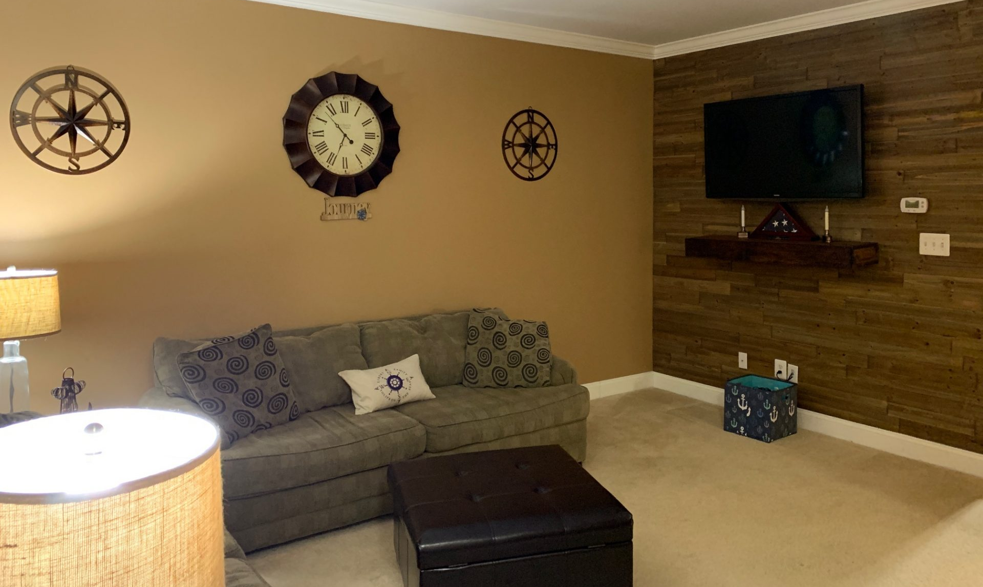 Living Room Accent Wall Before