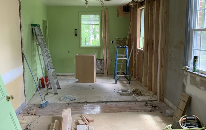 Wall is down! Open concept
